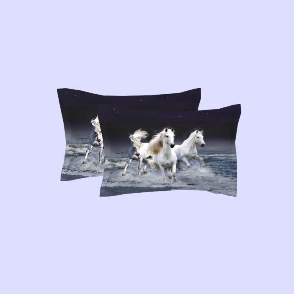 3 Majestic Horses Running Printed Bedding Set 4