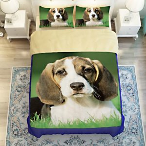 3D Dog printed bedding sets