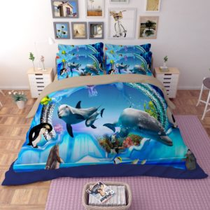 3D Dolphing World Bedding Set 1 300x300 - 3D Dolphing World Bedding Set