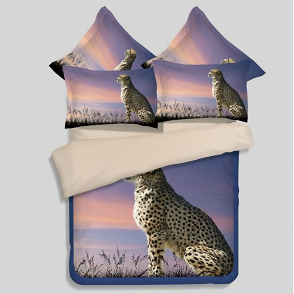 3D Golden Leopard Printed Bedding Set 1 600x600 - 3D Golden Leopard Printed Bedding Set