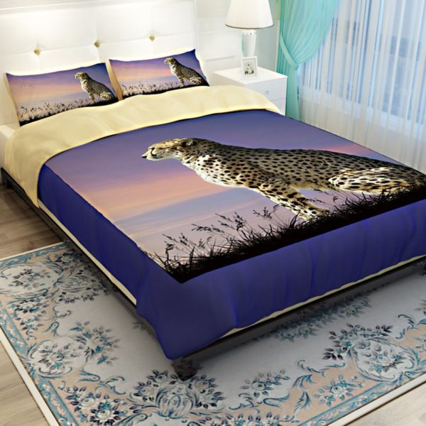 3D Golden Leopard Printed Bedding Set 2 600x600 - 3D Golden Leopard Printed Bedding Set