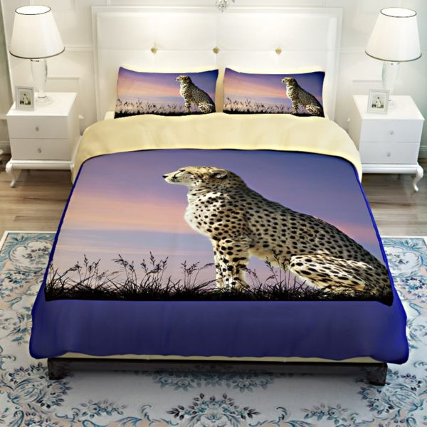 3D Golden Leopard Printed Bedding Set 3 600x600 - 3D Golden Leopard Printed Bedding Set