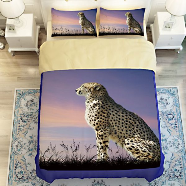 3D Golden Leopard Printed Bedding Set 4 600x600 - 3D Golden Leopard Printed Bedding Set