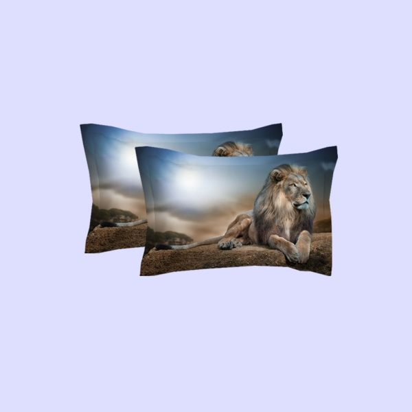 3D Mighty Lion Printed Bedding Set 3 600x600 - 3D Mighty Lion Printed Bedding Set