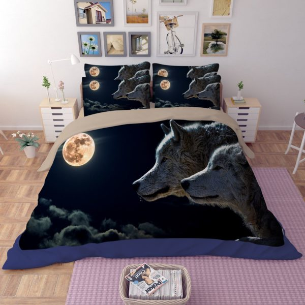 3D New Moon Wolves Printed Bedding Set 1 600x600 - 3D New Moon & Wolves Printed Bedding Set