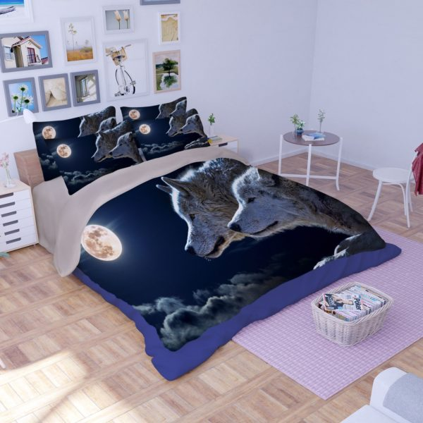 3D New Moon Wolves Printed Bedding Set 2 600x600 - 3D New Moon & Wolves Printed Bedding Set
