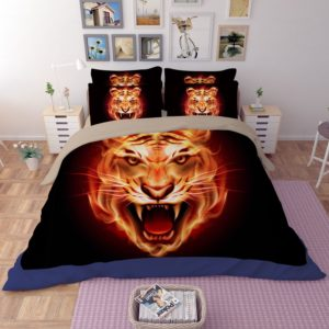 3D Stunning Flaming Tiger Face Printed Bedding Set 1 300x300 - 3D Stunning Flaming Tiger Face Printed Bedding Set