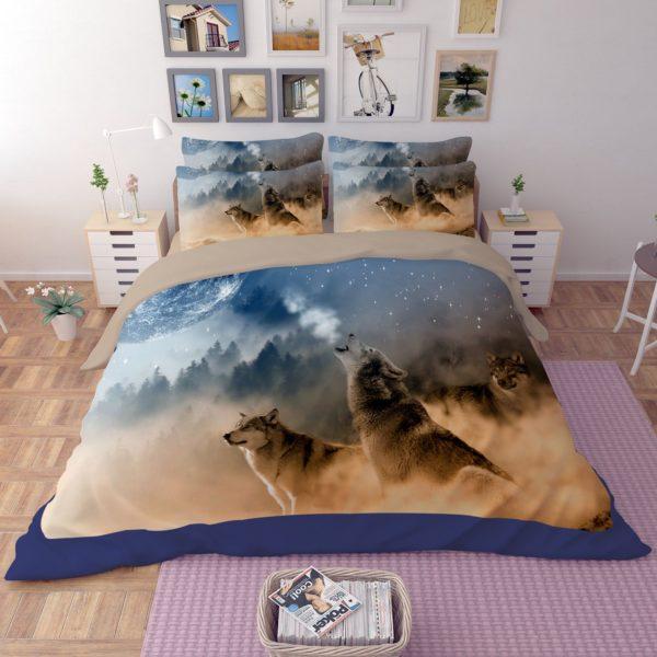 3D White Wolves Printed Bedding Set 1 600x600 - 3D White Wolves Printed Bedding Set
