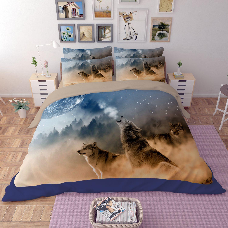 3d White Wolves Printed Bedding Set Ebeddingsets
