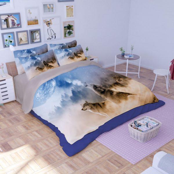 3D White Wolves Printed Bedding Set 2 600x600 - 3D White Wolves Printed Bedding Set