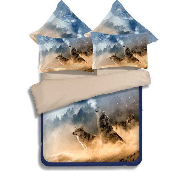 3D White Wolves Printed Bedding Set 4 600x600 - 3D White Wolves Printed Bedding Set