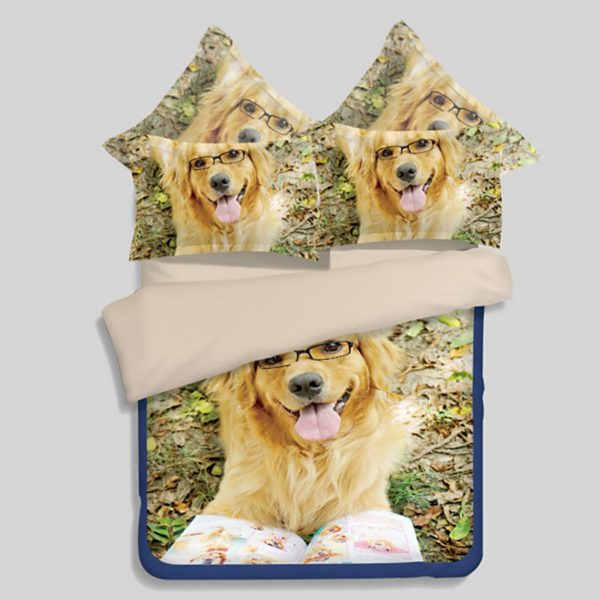 3D puppy bedding set 600x600 - 3D puppy bedding set