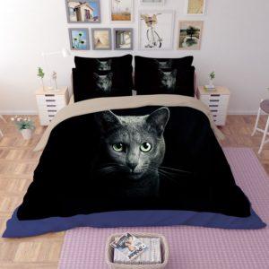 Adorable Grey Cat Face Printed Bedding Set 2 300x300 - Adorable Grey Cat Face Printed Bedding Set