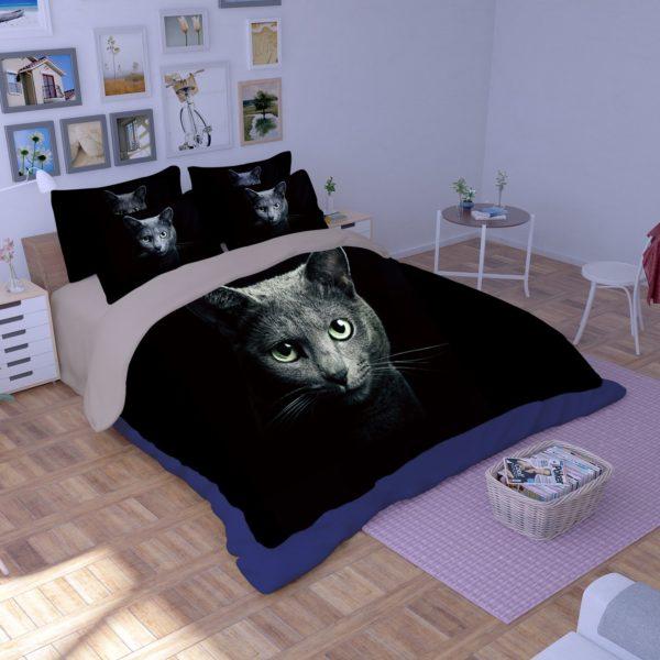 Adorable Grey Cat Face Printed Bedding Set 3 600x600 - Adorable Grey Cat Face Printed Bedding Set