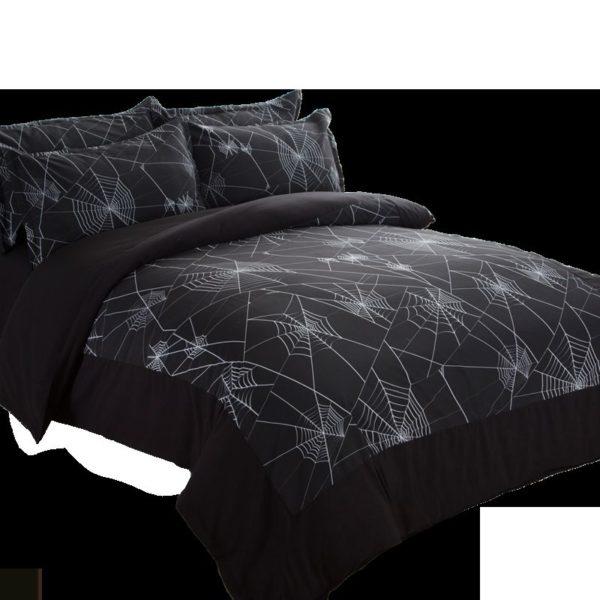 Amazing Spider Web Printed Black Bedding Set 6 600x600 - Amazing Spider Web Printed Black Bedding Set