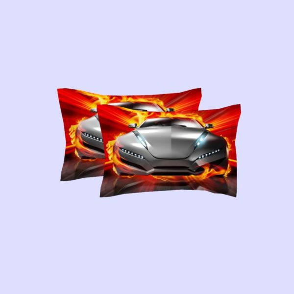 Animated Fire Car Printed Bedding Set 2
