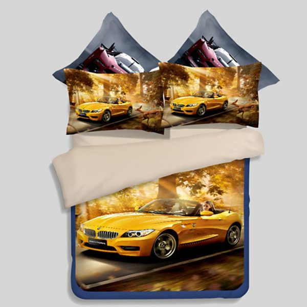 BMW Car Printed Bedding Set 600x600 - BMW Car Printed Bedding Set