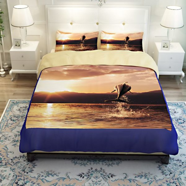 Beautiful Leaping Dolphin Printed Bedding set 3 600x600 - Beautiful Leaping Dolphin Printed Bedding set