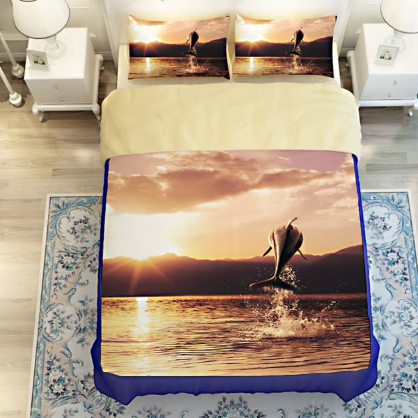 Beautiful Leaping Dolphin Printed Bedding set 4 600x600 - Beautiful Leaping Dolphin Printed Bedding set