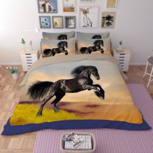 Black Draught Horse on Grass Bedding Set 2 300x300 - Black Draught Horse on Grass Bedding Set