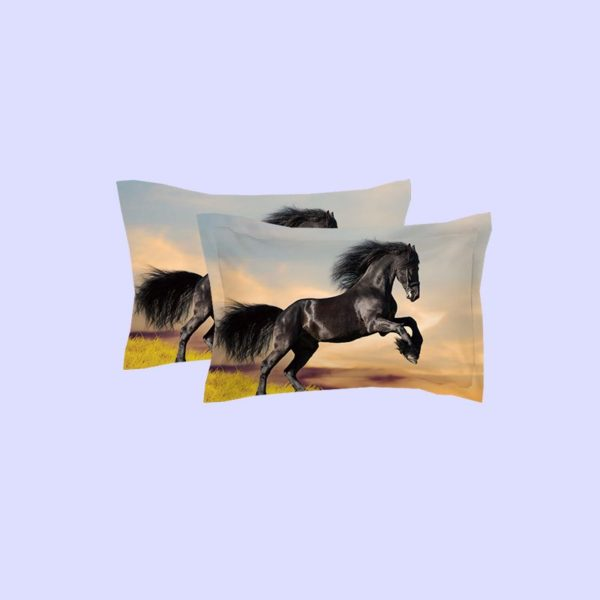 Black Draught Horse on Grass Bedding Set 4