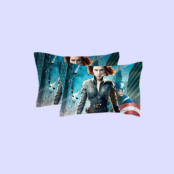 Black Widow and Captain America Bedding Set 3 600x600 - Black Widow and Captain America Bedding Set