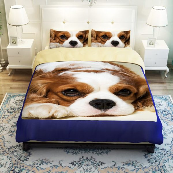 Boxer puppy printed bedding set