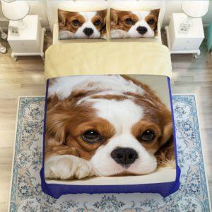 Boxer puppy printed bedding set