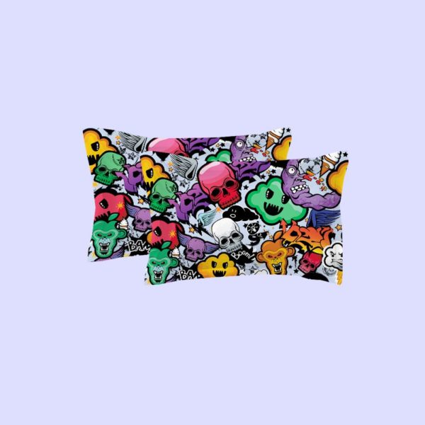 COLORFUL SKULLS PRINTED BEDDING SET 4 600x600 - COLORFUL SKULLS PRINTED BEDDING SET
