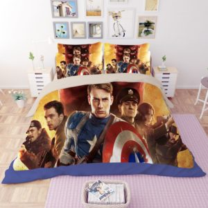 Captain America Movie Print Bedding Set 3 300x300 - Captain America Movie Print Bedding Set
