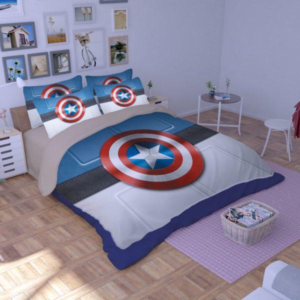 Captain America Shield Bedding Set 1 600x600 - Captain America Shield Bedding Set