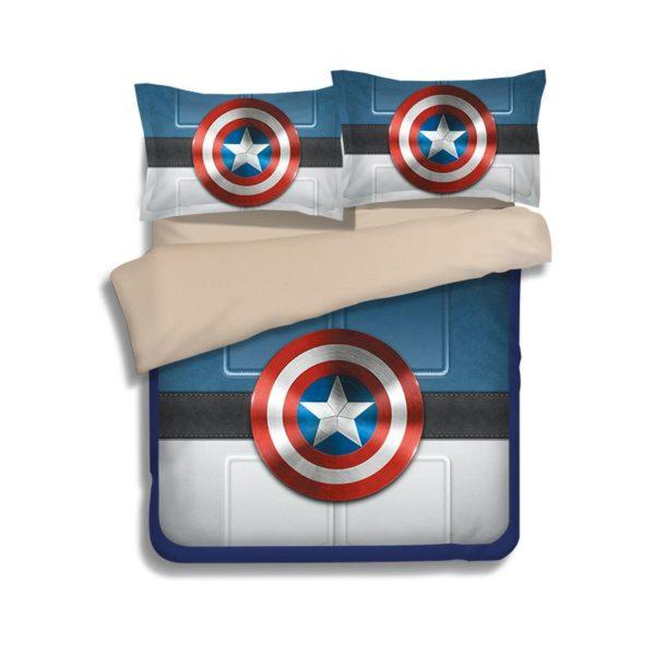 Captain America Shield Bedding Set 3 600x600 - Captain America Shield Bedding Set