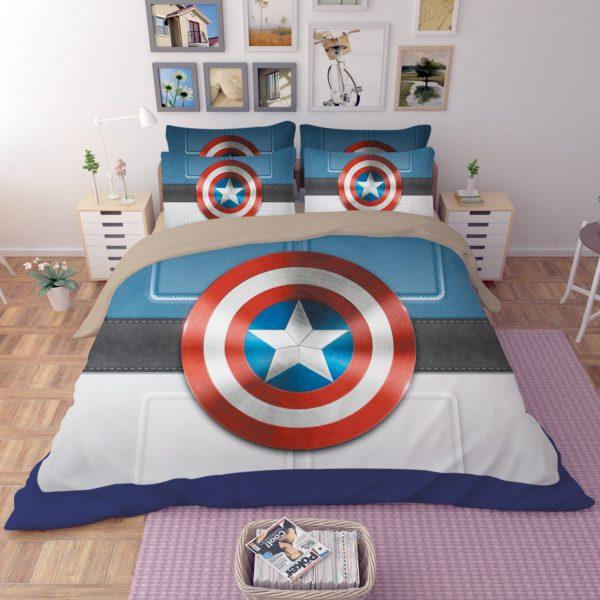 Captain America Shield Bedding Set 4 600x600 - Captain America Shield Bedding Set
