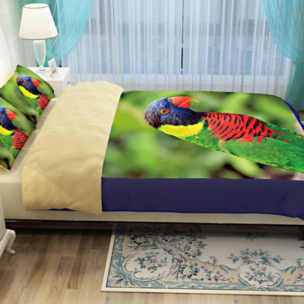 Colourful Parrot Printed Bedding Set 2 600x600 - Colourful Parrot Printed Bedding Set