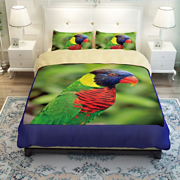 Colourful Parrot Printed Bedding Set 3 600x600 - Colourful Parrot Printed Bedding Set