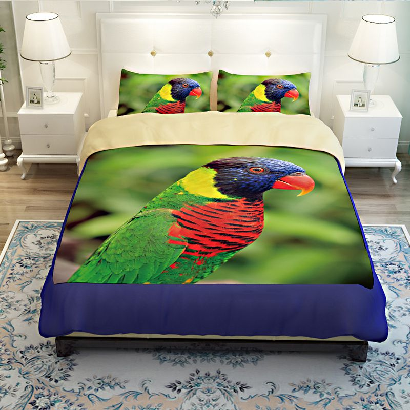 Colourful Parrot Printed Bedding Set Ebeddingsets