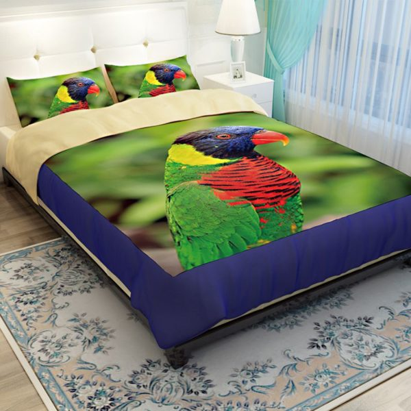 Colourful Parrot Printed Bedding Set 4 600x600 - Colourful Parrot Printed Bedding Set