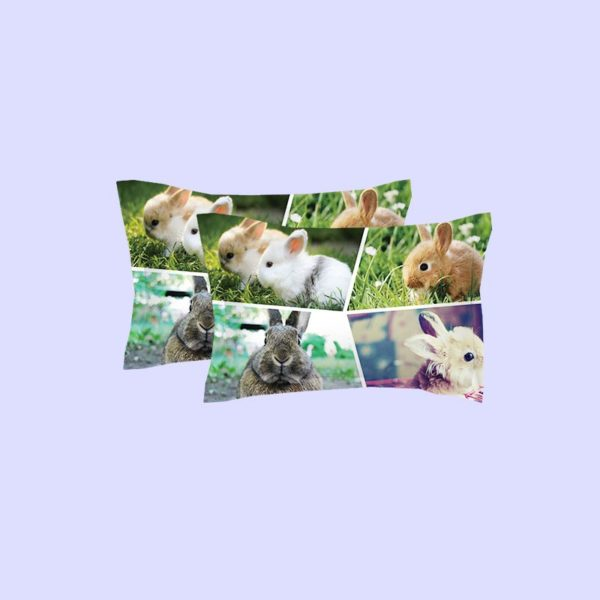 Colourful Rabbit Pictures Printed Bedding Set 3 600x600 - Colourful Rabbit Pictures Printed Bedding Set