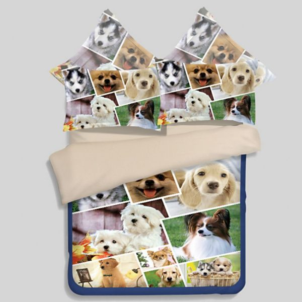 Cute Dog Print 3D Bedding Sets 600x600 - Cute Dog Print 3D Bedding Sets