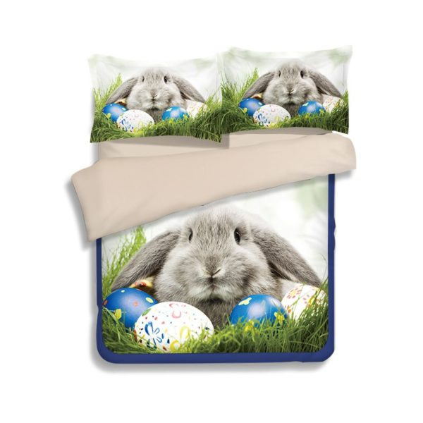 Cute Easter Bunny Printed Bedding Set 2 600x600 - Cute Easter Bunny Printed Bedding Set