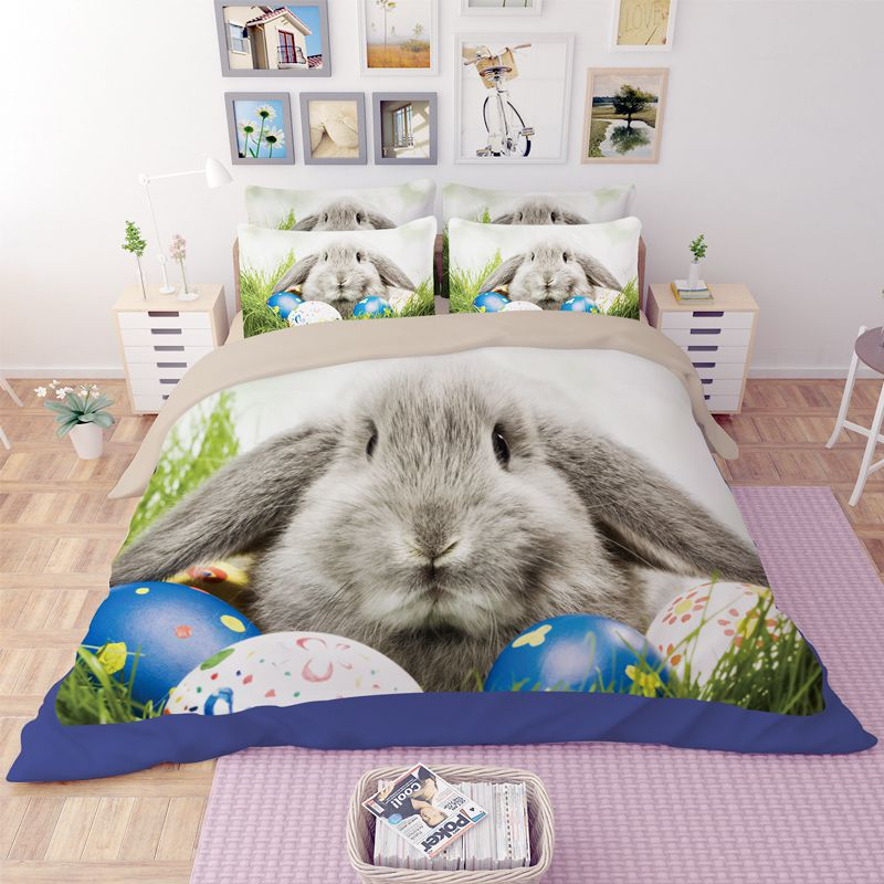 Cute Easter Bunny Printed Bedding Set 4 600x600