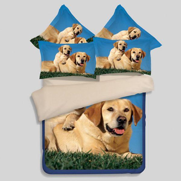 Cute Puppy Bedding set 1 600x600 - Cute Puppy Bedding set