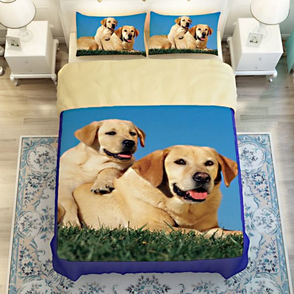 Cute Puppy Bedding set 4 600x600 - Cute Puppy Bedding set