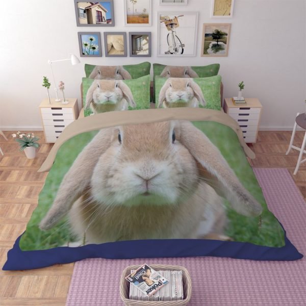 Cute Rabbit Printed Bedding Set