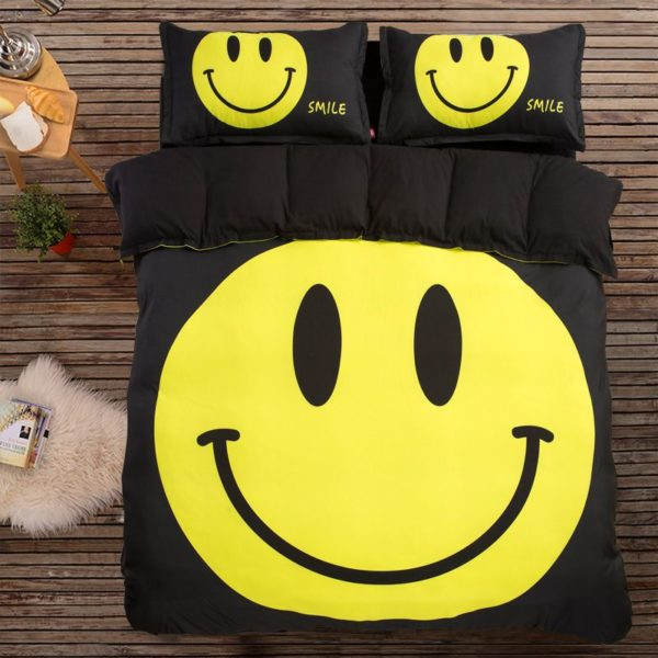 Cute Smiley Printed Bedding Set 2 600x600 - Cute Smiley Printed Bedding Set