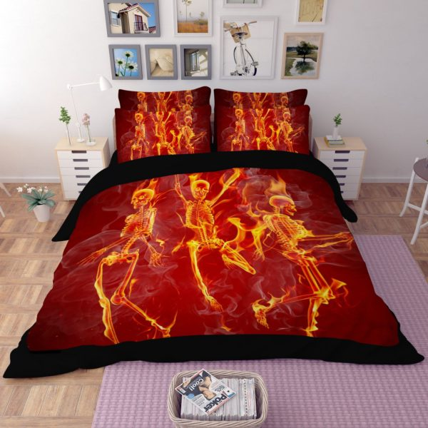 Dancing Skeleton printed bedding set 4 600x600 - Dancing Skeleton printed bedding set