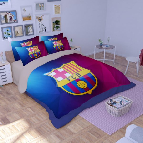 FC Barcelona 3D Logo Printed Bedding set 1 600x600 - FC Barcelona 3D Logo Printed Bedding set