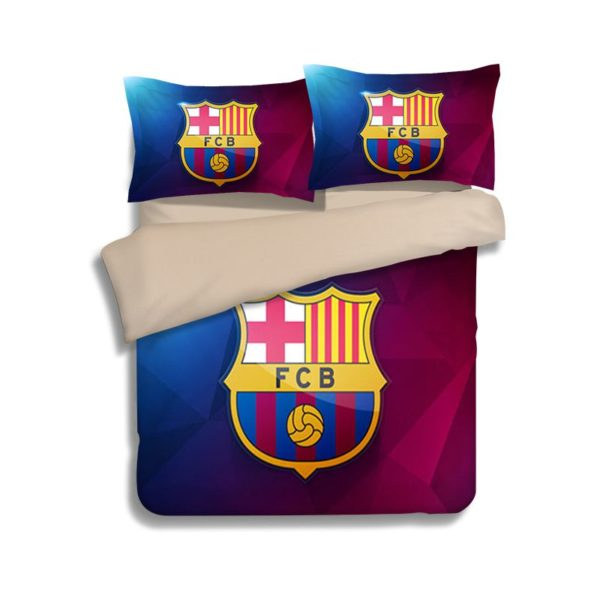 FC Barcelona 3D Logo Printed Bedding set 2 600x600 - FC Barcelona 3D Logo Printed Bedding set