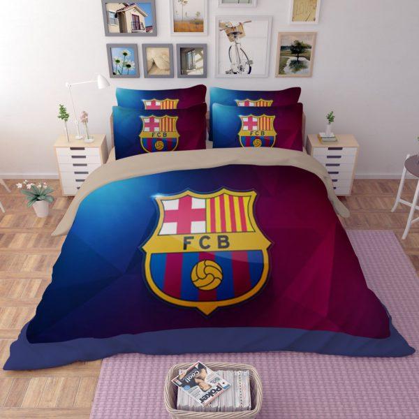 FC Barcelona 3D Logo Printed Bedding set 4 600x600 - FC Barcelona 3D Logo Printed Bedding set