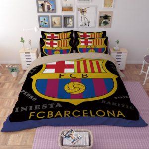 FC Barcelona Soccer Logo Printed Bedding set 1 300x300 - FC Barcelona Soccer Logo Printed Bedding set